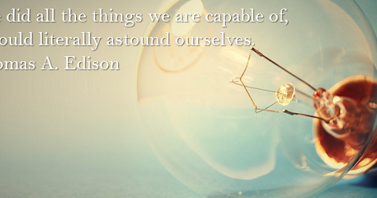 Celebrate Thomas Edison's birthday with this Facebook quote cover