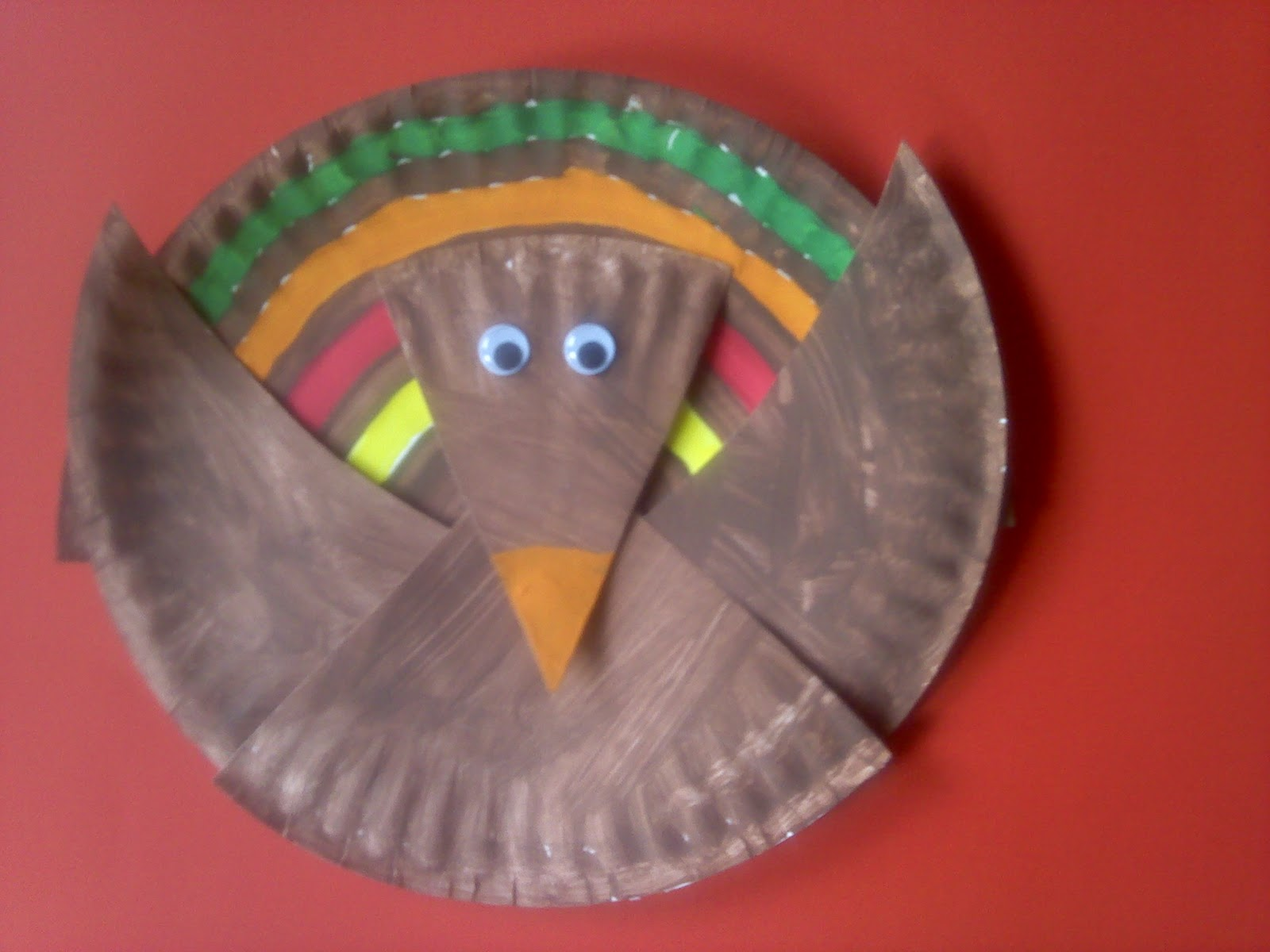 Turkey Half Paper Plate Craft