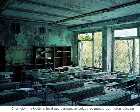Chernobyl, na Ucrânia. local que permanece isolado do mundo por muitas décadas