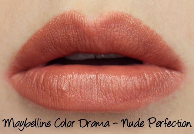 Maybelline Color Drama Lip Pencil - Nude Perfection Swatches & Review