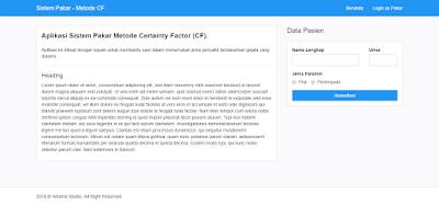 Aplikasi Web Sistem Pakar Metode Certainty Factor