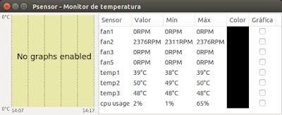 Psensor - Monitor de temperatura