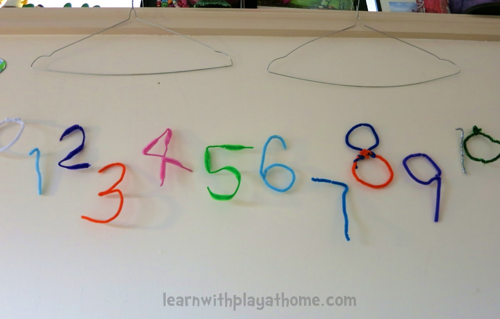 Learn With Play At Home Pipe Cleaner Numbers Playful Maths