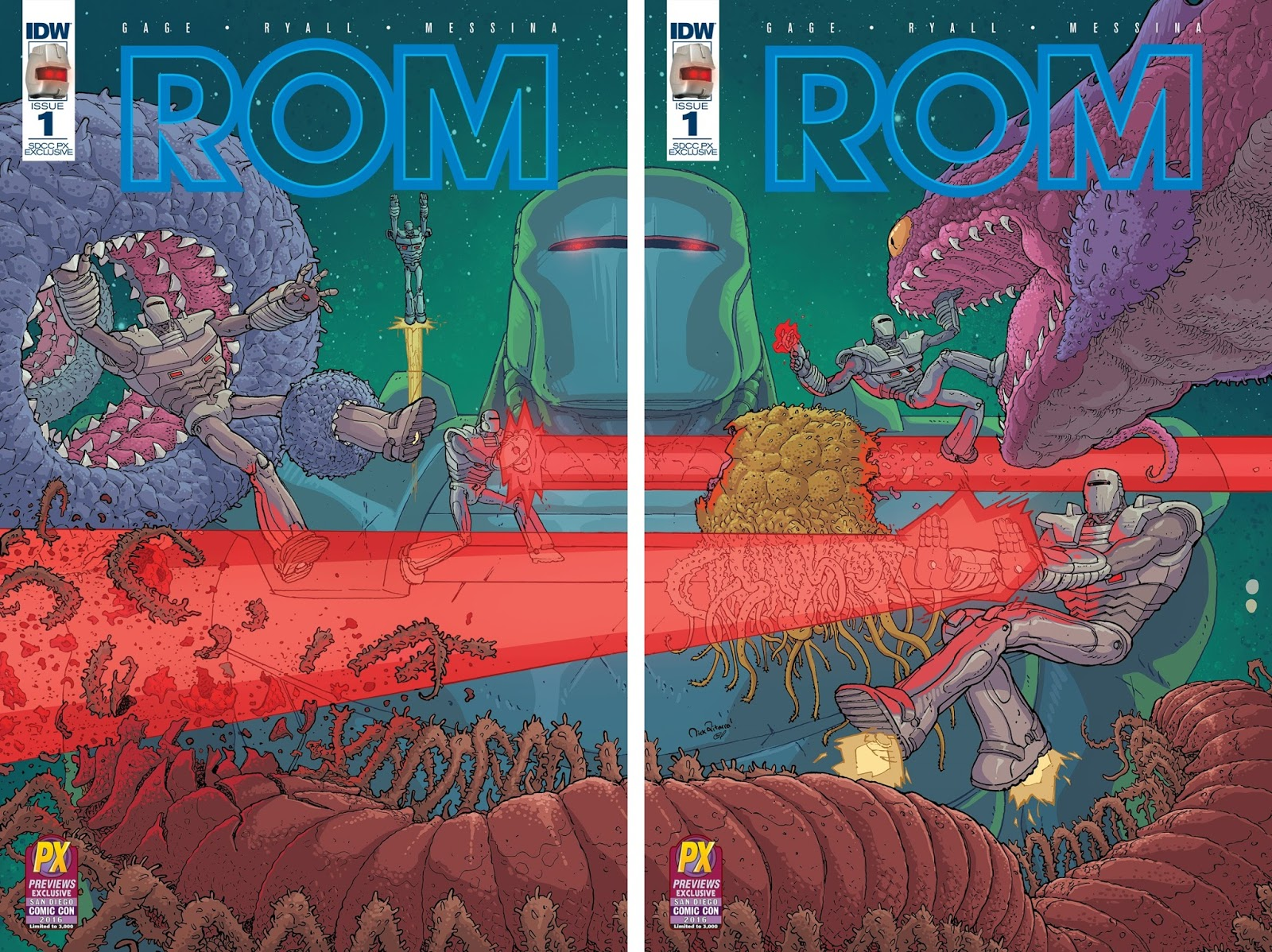 The Blot Says: SDCC 16 Exclusive ROM #1 Variant Covers by