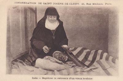 Sœurs de Saint Joseph de Cluny, surtout présentes en Outre-Mer et dans les colonies après les lois Combes interdisant les congrégations enseignantes (collection privée)