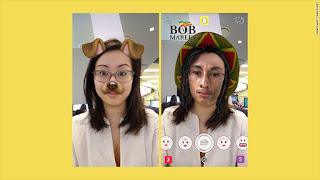 swipe left/right on snapchat
