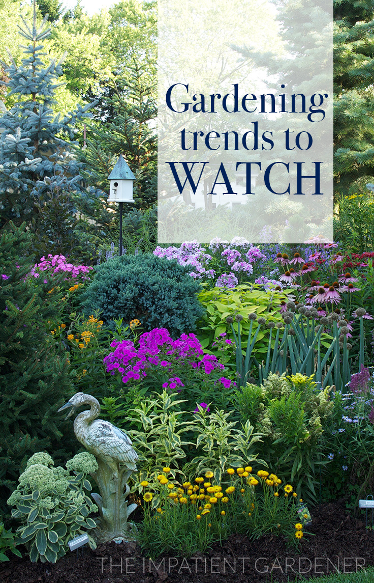 the impatient gardener garden trends for 2017