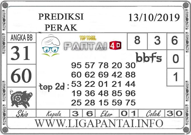 """PREDIKSI TOGEL """"PERAK"""" PANTAI4D 13 OKTOBER 2019"""