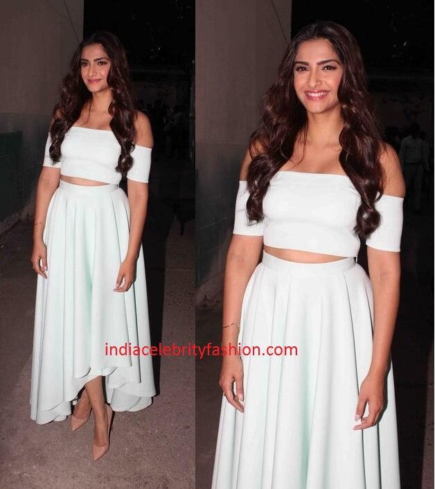 Sonam Kapoor in Nishka Lulla dress for Kalyan jewellers event