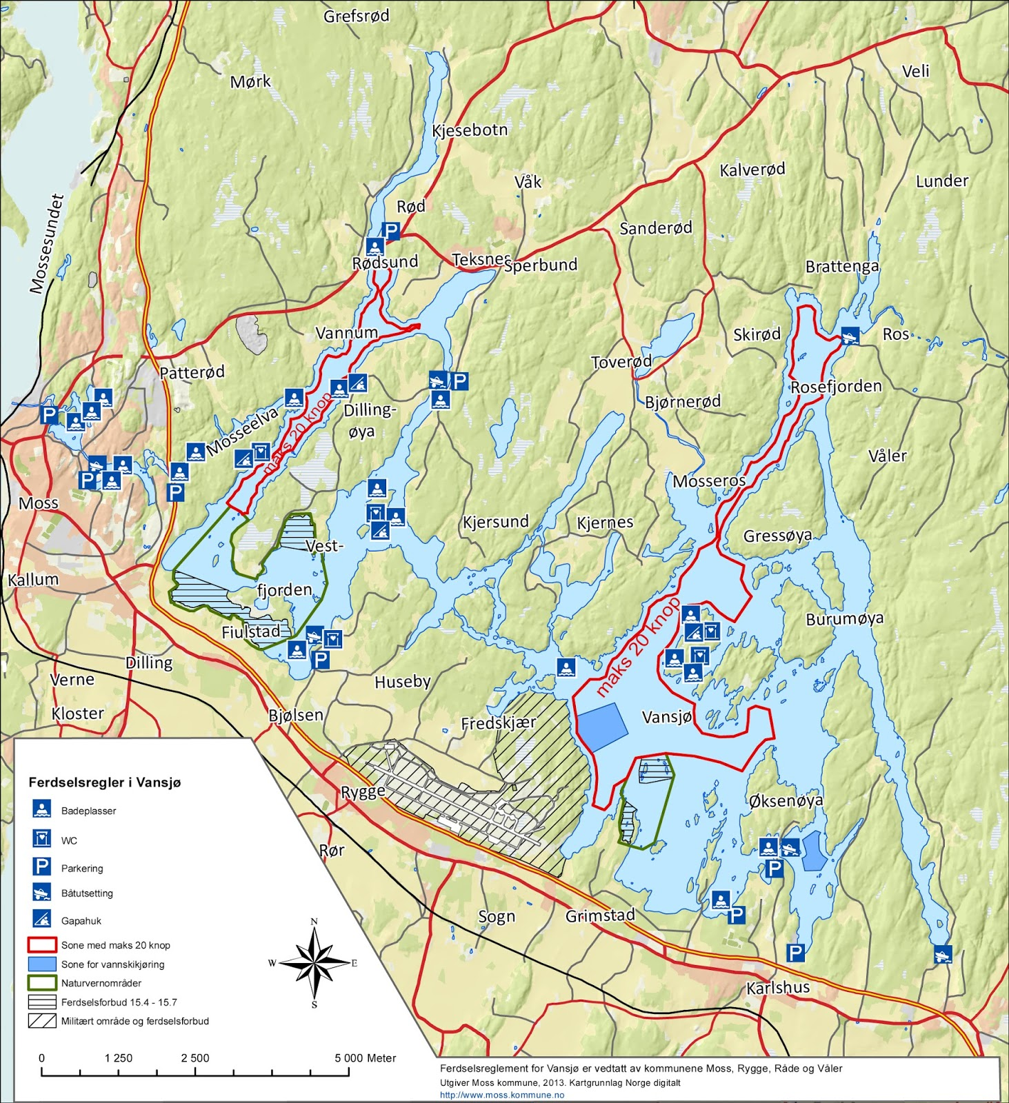 vansjø kart Lisa: Østlands ferie ute i det fri vansjø kart