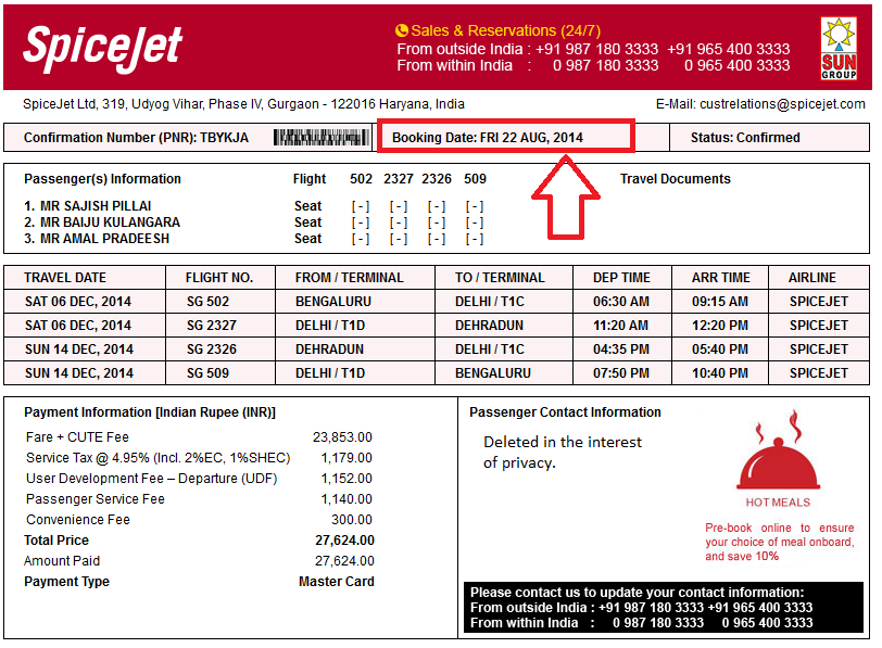 Priority Check-In can only be bought by the passengers either on blogdumbwebcs.tk or via SpiceJet's Reservations. Priority Check-In is a pre-paid service, and can be bought for per passenger, per sector of the journey, on the payment of the following non-refundable fees, w.e.f. 11/Jan/