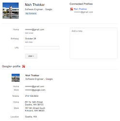 Google+ in Google Mail