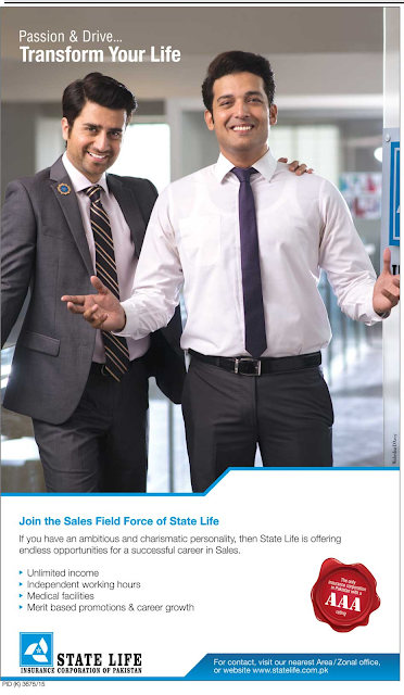 Sales & Marketing Jobs in state life insurance corporation of Pakistan