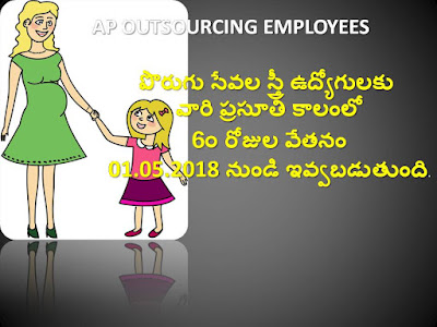 AP Outsourcing women Employees Maternity Leave salary for 60 days