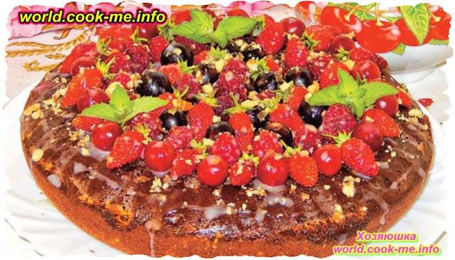 Шоколадный торт с ягодами рецепт для мультиварки