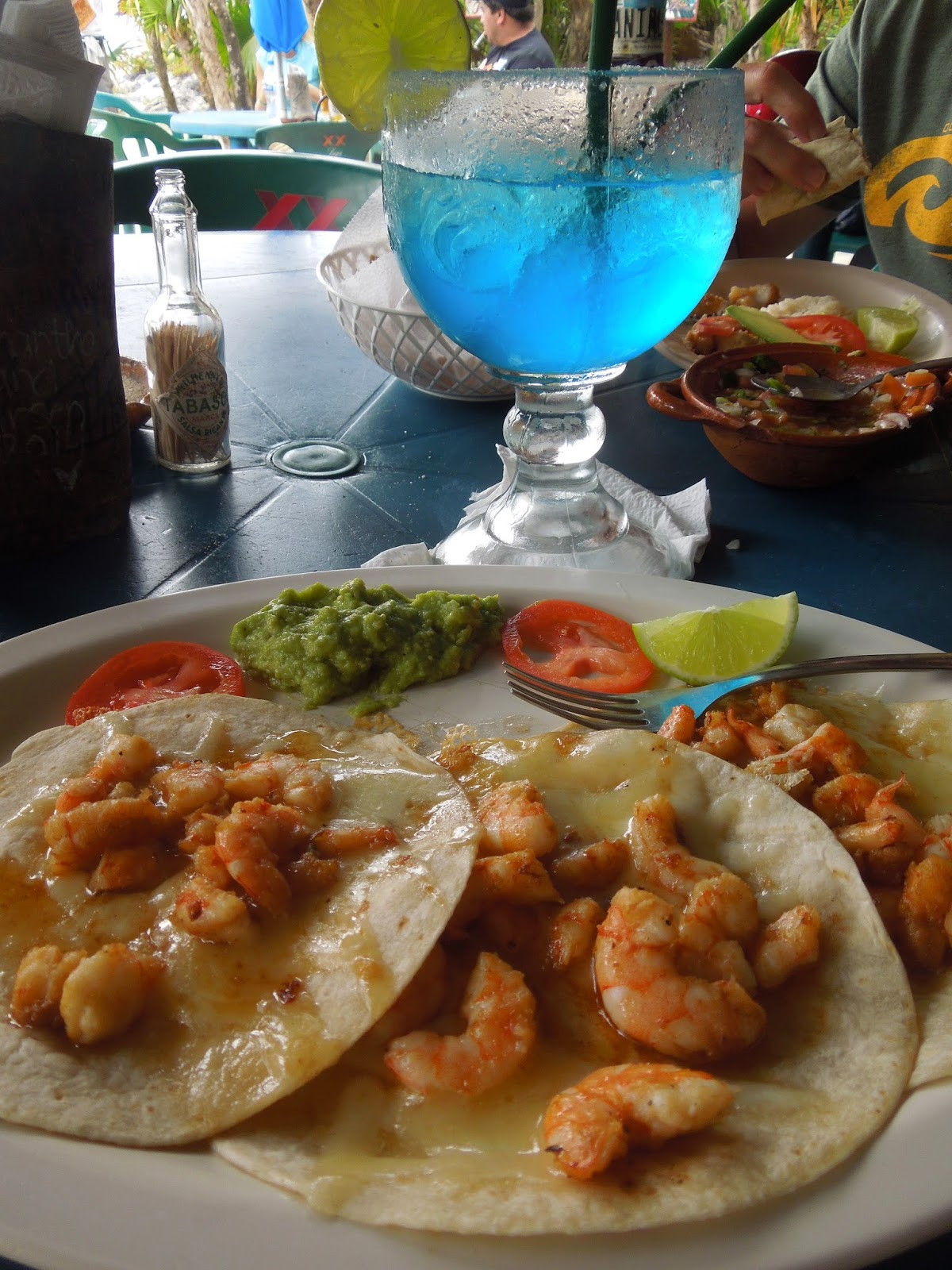 lunch at Coconuts Cozumel