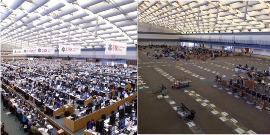 Traders Press Once The Worlds Largest Ubs Trading Floor Now
