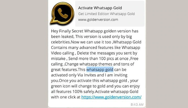 Activate Whatsapp Gold