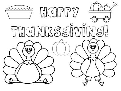 Easy thanksgiving coloring pages for toddlers ~ Thanksgiving Printable Placemat Coloring Pages – Colorings.net