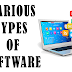 Explain various types of software.