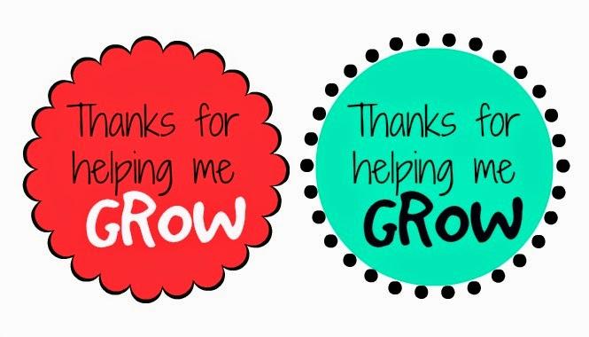 Teacher Gift Idea Thanks For Helping Me Grow Flower Free Studio