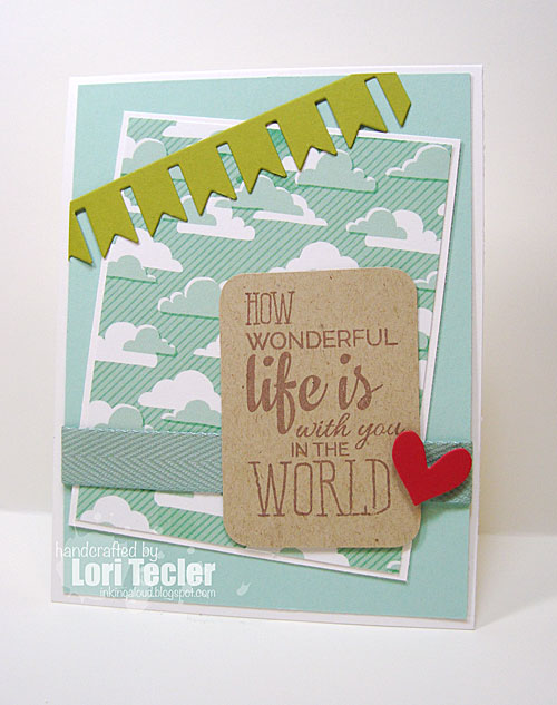 How Wonderful Life Is card-designed by Lori Tecler/Inking Aloud-stamps and dies from Verve Stamps