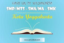 HASIL UN SMA/MA Kota Yogyakarta Tahun 2015 – 2017 Jurusan IPA