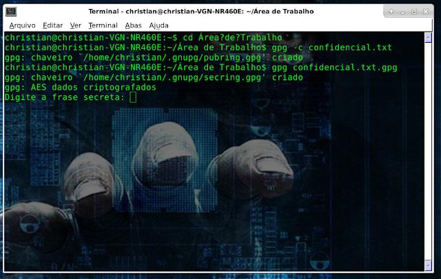 descriptografando arquivos no linux