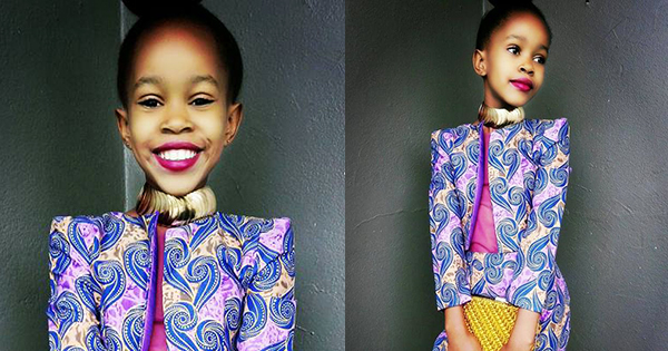 Enhle Gebashe, 10-year old fashion designer