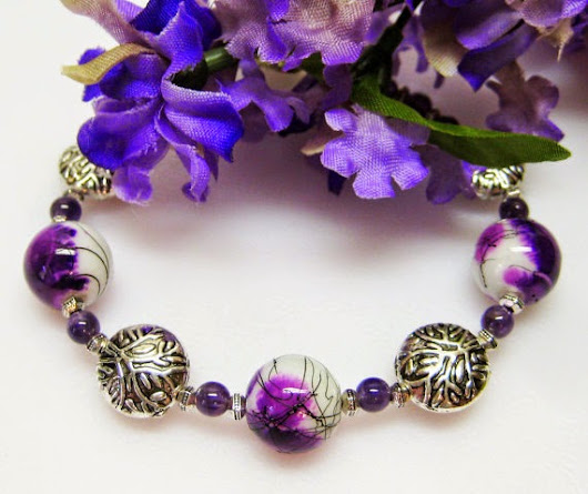 The Purple Corner - My Gemstone Designs Purple Bracelet