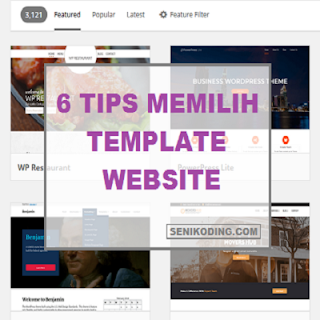 Tips Memilih Template (Tema) Website
