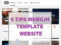 6 Tips Memilih Template (Tema) Website