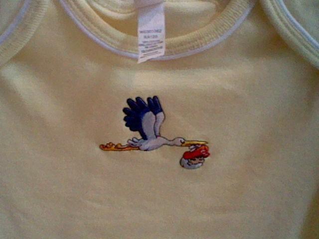 Nintendo World Store Yoshi's Island baby shirt stork Mario