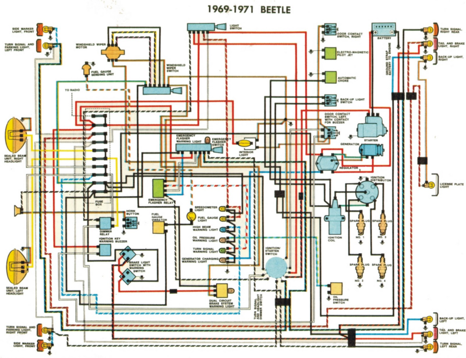 volkswagen beetle alternator wiring diagram 1969 volkswagen beetle ignition wiring diagram