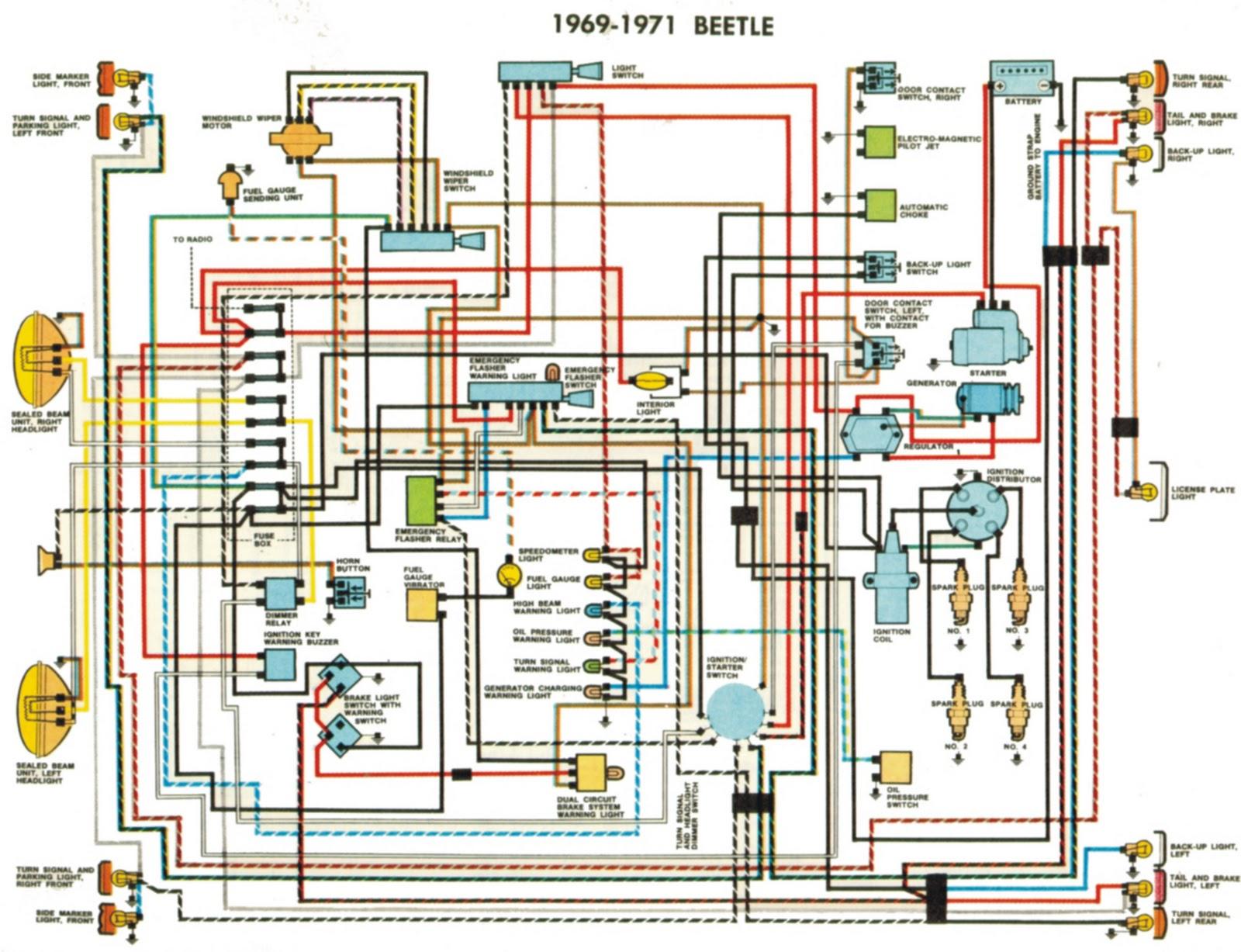 1971 volkswagen coil wiring