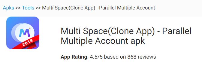 Multi Space(Clone App) - Parallel Multiple Account »