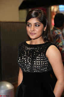 Niveda Thomas Black Sleeveless Cute Dress at 64th Jio Filmfare Awards South 2017 ~  Exclusive 082.JPG