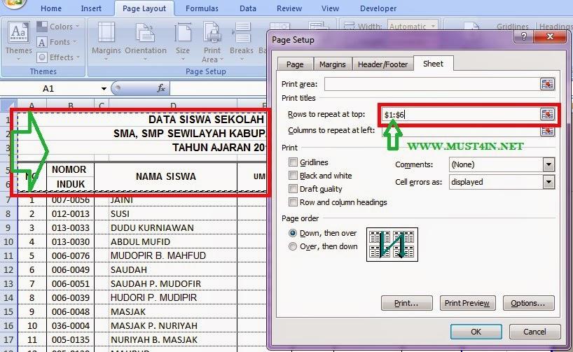 Online Firmware: Cara Membuat Tampilan Judul Tabel Excel ...
