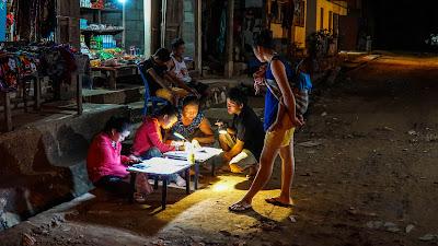 Night time in Muang Ngoi Neua