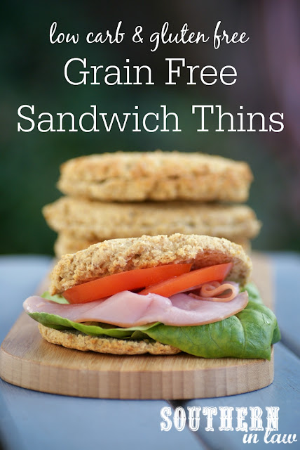 Low Carb Homemade Sandwich Thins Recipe  healthy paleo bread recipe, low fat, gluten free, grain free, high protein, clean eating friendly
