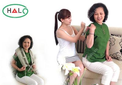 Máy massage giảm đau vai cổ lưng Olekin