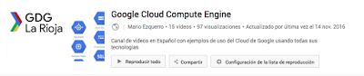 Canal de video youtube de Cloud engine Google en Español
