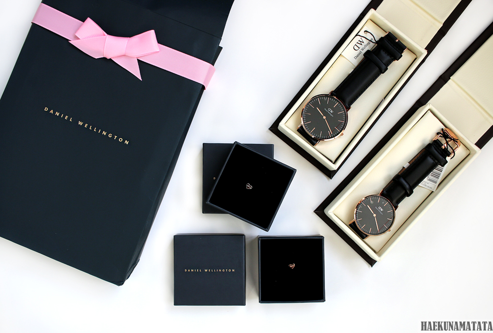 Daniel Wellington Valentine's Day Promotion: Classic Black Rose Gold 36mm and 40mm and Heart Charm