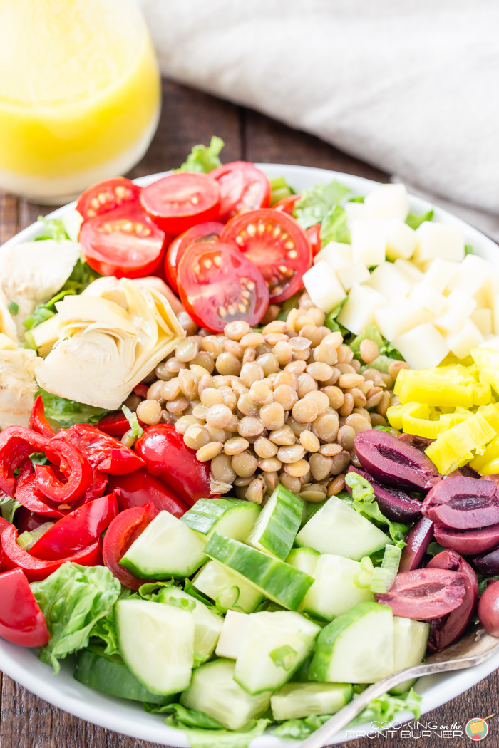 Italian Lentil Chopped Salad