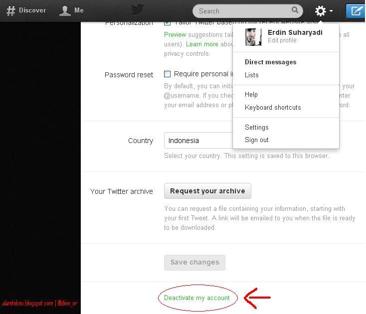 Cara Menghapus atau Menonaktifkan Akun Twitter - Alam Berita Viral