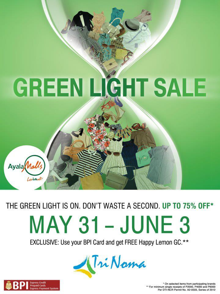 67ea1a661cf4a6 May 31-June 3  TriNoma Green Light Sale 2012