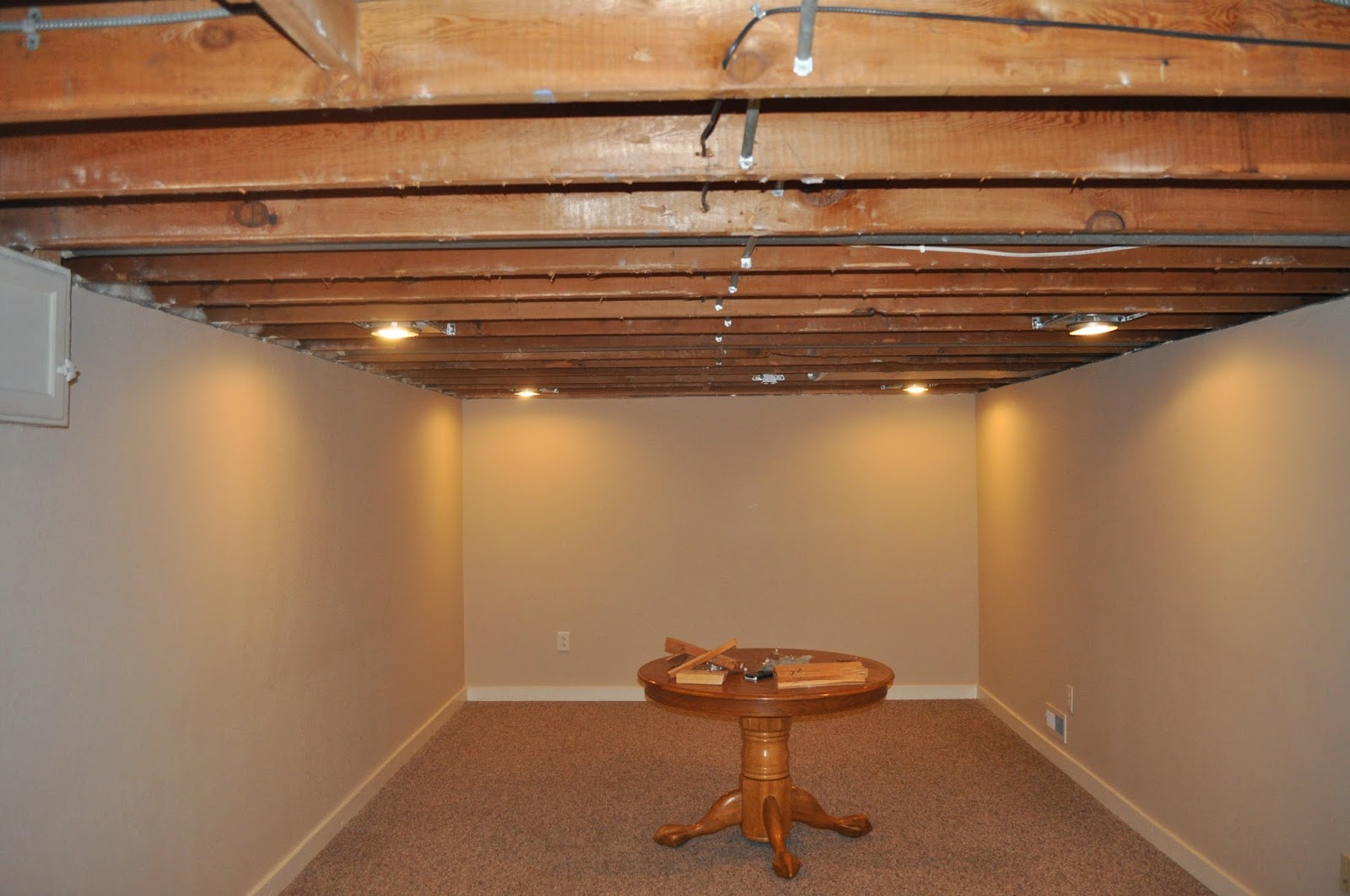 Carri Us Home: Painting a Basement Ceiling
