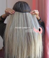 Duas telas de cabelos mechado loiro com castanho