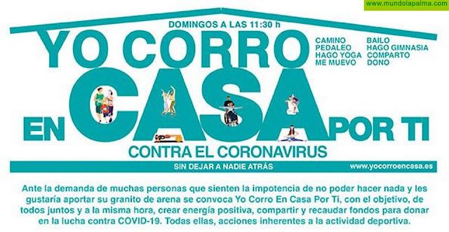Yo corro en casa por tí contra el coronavirus