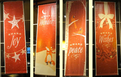 Panera Christmas 2011 banners in red
